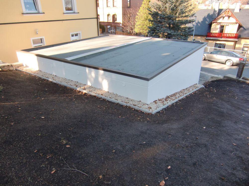 Doppelgarage pultdach  Stahlgaragen und Betongaragen aus Sachsen.